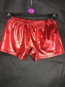 "Metallic Red Shorts - Small - Waist Size 20"" +"