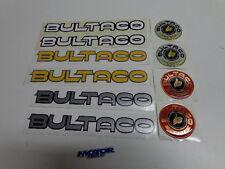 BULTACO VINYL AND RESIN ADHESIVES 10 UNITS.