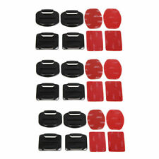12Pack Helmet Accessories Flat Curved Adhesive Mount For Gopro Hero 3 3+ 4 5 6 7