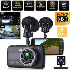 4'' HD 1080P Car DVR Camera Dash Cam Vehicle Driving Recorder Dual Lens G-Sensor