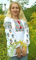 Ukrainian Embroidered Blouse women Sorochka Vyshyvanka Tradition Shirt XS-XXXXL