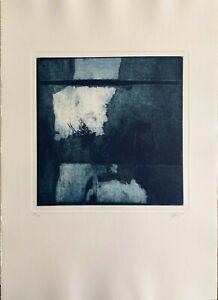 Manuel Ortega incisione acquaforte Paesaggio 1999 70x50 firmata numerata su 40