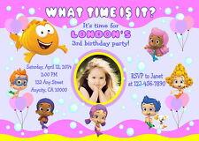 BUBBLE GUPPIES CUSTOM PRINTABLE BIRTHDAY PARTY INVITATION & FREE THANK U CARD