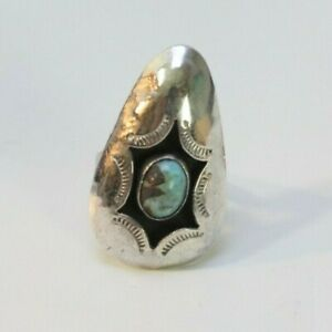 BEAUTIFUL 925 SIZE 6 TURQUOISE RING DIFFERENT STYLE DESIGN!