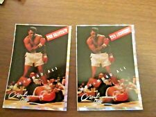 Lot of 9 Muhammad Ali Collectible  Promo Card  Silver Foil Edition