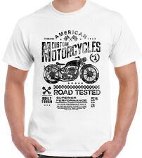 Biker T-Shirt Motorcycles Mens Bike Chopper Indian Motorbike American Custom