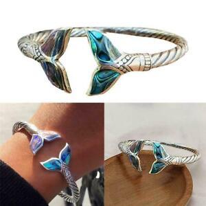Women Girl Mermaid Tail Bangle Adjustable Ocean Chain Bracelet NEW New F1L9