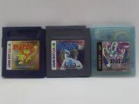 Nintendo GB  Pokemon  Gold Silver Crystal Lots Japan Game Boy