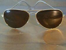 Ray Ban RB3026 Aviator Unisex Sunglasses 62MM Gold Frame/ Brown Gradient Lens