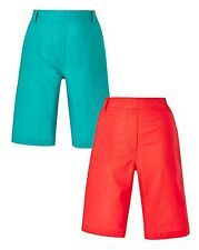 Anthology Womens 2 Pack Woven Shorts Size 20 Uk BNWT RRP £29.50 Jade/Coral