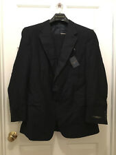 NWT Hart Schaffner Men's Two Button 100% Wool Pinstripe Blue Suit 44 Long 44L 42