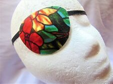 """Woman's handmade eye patch, """"Stained Glass""""/eye care/cataract aid/ocular aid"""