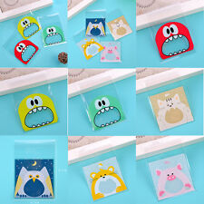 Cute Candy Cake Biscuits Cookies Snack Packaging Bags Self-adhesive 100pcs/bag