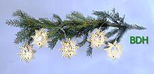 LED Holz Stern Lichterkette 5er Weihnachtsdeko Fensterbild Holzsterne Batterie