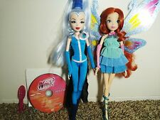 "Winx Club GOOD VS EVIL 2 Pack ICY AND BLOOM 11.5"" Enchantix Dolls"
