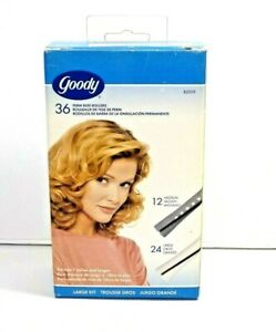 Goody Perm Rod Rollers Box Of 36 Gray And White With Instructions New In Package