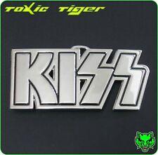 KISS Belt Buckle logo Chrome silver Gene Paul Ace Peter Zinc Alloy rock metal