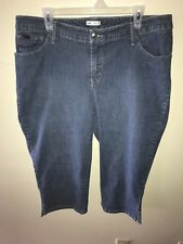 Lee Womens Plus Size 20W Lower On The Waist Medium Wash Jeans