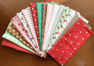 Moda Fabrics Christmas Merry Merry Snowdays Fat 1/8 pack - total 2m. Patchwork