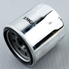 Oil Filter - Micro-Glass - Chrome For 1989 Honda GL1500 Gold Wing~Emgo 10-82222