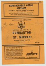 S Surname Initial Signed Football Programmes