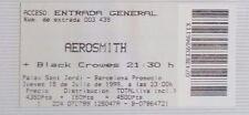 AEROSMITH + BLACK CROWES : TICKET ORIGINAL   !!!!!! (BARCELONA 1999) SPAIN