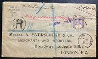 1902 Axim Gold Coast Registered Commercial Cover To London England