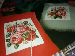 CROSS STITCH CHART  2 BEAUTIFUL ROSE PANEL ROSES FLOWERS SAMPLER CHARTS ONLY