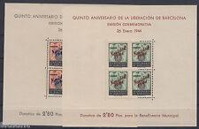 AYUNTAMIENTO DE BARCELONA - ** NE25/NE26 - RARAS HOJAS BLOQUE - AÑO 1944