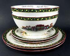 (6) Portmeirion Studio A CHRISTMAS STORY, Dinner & Salad Plates, Bowls