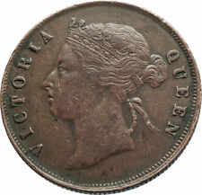 1897 STRAITS SETTLEMENTS with UK Queen Victoria Genuine Antique CENT Coin i79303