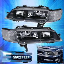 For 1994-1997 Honda Accord Front Driving Black Head Lamp Light Replacement