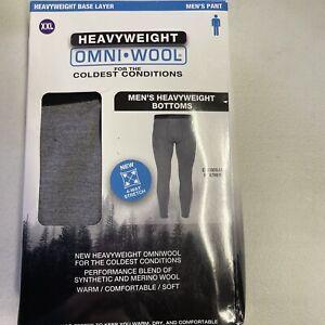 OMNI WOOL heavyweight Base Layer Pants Sz XXLarge Merino Wool Blend