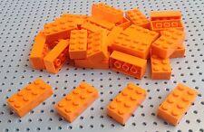 LEGO Orange Brick 2x4 (3001) x25 in un Set * Nuovo di Zecca * Pirati SPAZIALI City