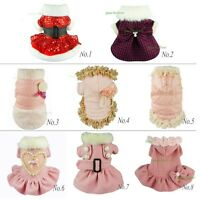 Fitwarm Gorgeous Pink Winter Coat Dog Clothes Pet Dress Warm Fleece Apparel Girl