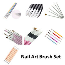 Nail Art Brushes Set Dotting Painting Drawing Polish Pen Manicure Tool Set