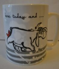 "Disney Eeyore Coffee Mug ""Here today and gone tomorrow"" by Enesco  - NEW"