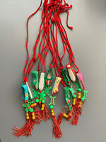 Vintage Chinese Cloth Shoe Necklace Party Favor Gift