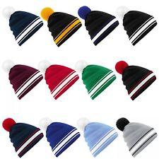 Beanie hat, football team colours, bob hat, wool winter hat, one size, unisex