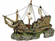 Aqua Ornaments SCHIFF mit Höhle für Fische Aquariendekoration Dekor