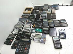 Mixed Lot of 43 Hewlett Packard/ Texas Instruments Canon Casio Calculators