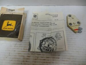 NOS OEM JOHN DEERE TRACTOR ELECTRICAL ALTERNATOR VOLTAGE REGULATOR AR55827