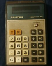 Lloyd's Accumatic 310 Hand Held Calculator With Led Display Tested