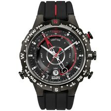 Timex Intelligent Cuarzo T2N720 Hombre Todo Negro Tide Temp Compass Reloj