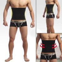 Men's Waist Belt Sweat Trainer Slimming Trimmer Belt Body Shaper Fat Burner G