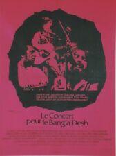 LE CONCERT POUR LE BANGLA DESH Affiche entoil.Bob DYLAN,George HARRISON,BEATLES