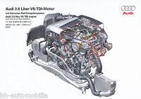 2434AU Audi 3.0 V6 TDI Motor Common Rail Prospekt 2003 9/03 Bildprospekt