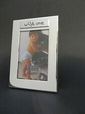 "Burnes of Boston 4"" x 2.75"" Silver tone Frame with ""Wild One"" Caption -FREE SHIP"