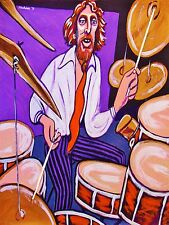GINGER BAKER PRINT poster drums cream air force cd snare toms zildjian cymbals