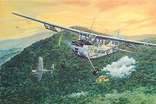 "PLASTIC AIRPLANE  MODEL KIT CESSNA L-19/O-1 ""BIRD DOG"" 27 1/32 RODEN 619"